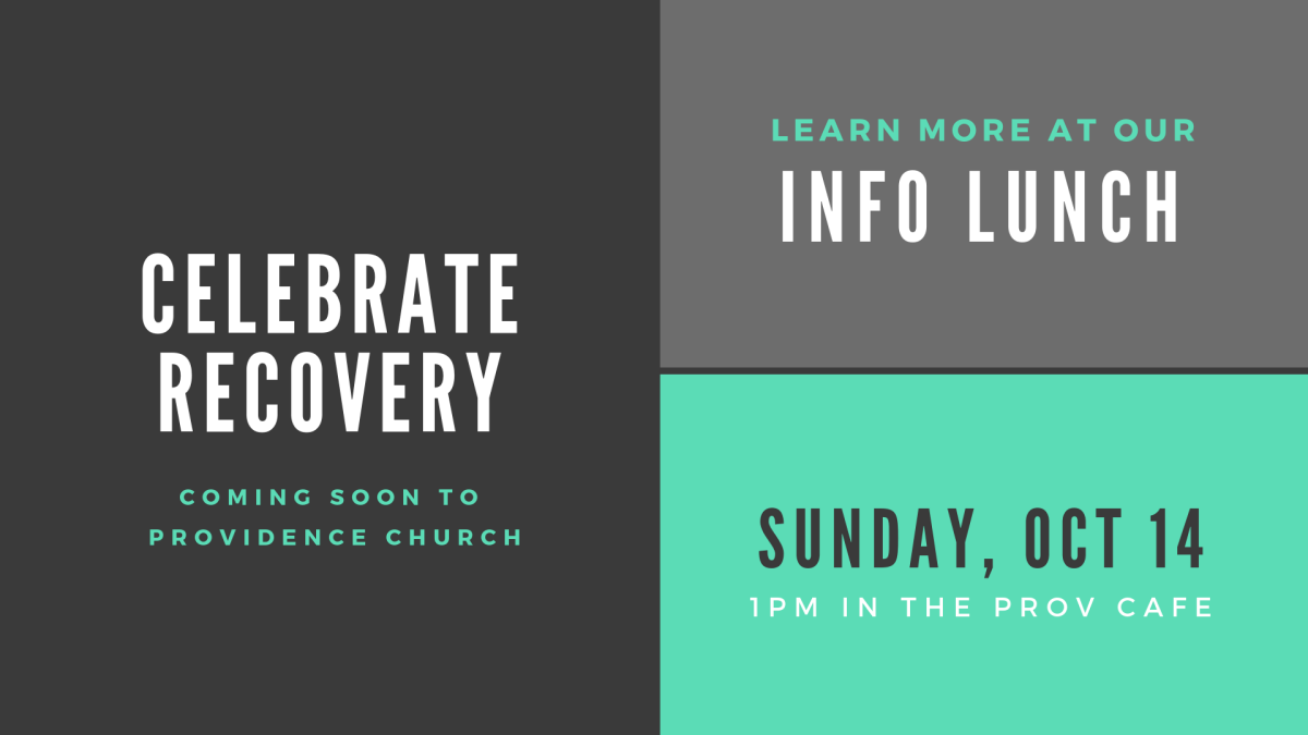 Celebrate Recovery Informational Luncheon
